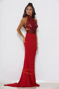 Sexy Mermaid High Neck Long Formal Prom Dresses