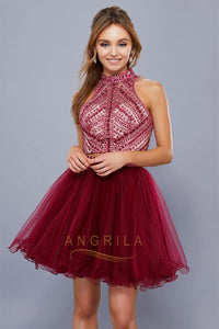 Princess Two-Piece Beading Short Formal Cocktail Dresses