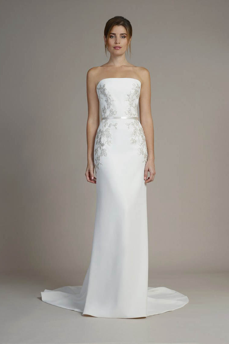 Elegant Strapless Sheath Wedding Dresses