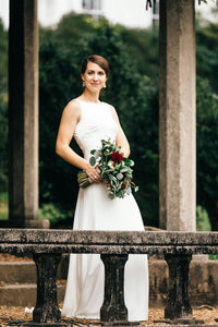 Simple A-line/Princess Sweep Train Wedding Dresses