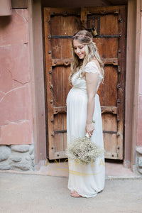 A-line/Princess Sweetheart Pregnant Wedding Dresses