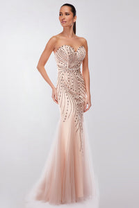 Trumpet/ Mermaid Sweetheart Strapless Beading Long Prom Dresses