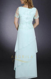 Mother of Bride Dress with Beading and Lace Applique