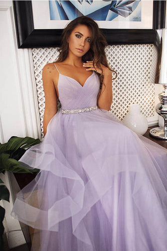A-Line Spaghetti Straps Sleeveless Layers Tulle Wedding Dresses