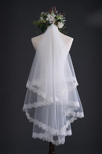 Pretty Bridal Wedding Veils with Lace