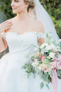 Off-the-Shoulder Layers Organza Wedding Dresses