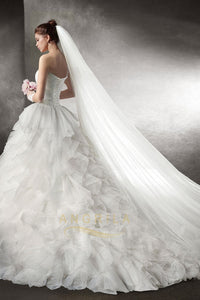 A-line/Princess Strapless Sweetheart Ruffles Wedding Dresses