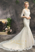 Illusion Neckline Mermaid Bridal Wedding Dresses