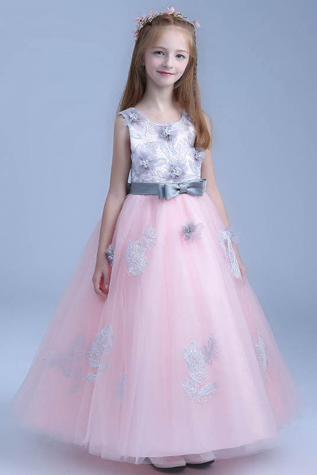 A-line Cute Ankle-length Tulle Flower Girl Dresses