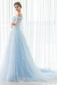 Vintage A-Line Tulle Wedding Dresses with Lace Appliques