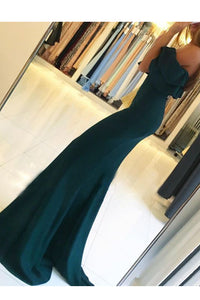 Off-the-Shoulder Trumpet/Mermaid Sweep Train Split Front Prom Dresses