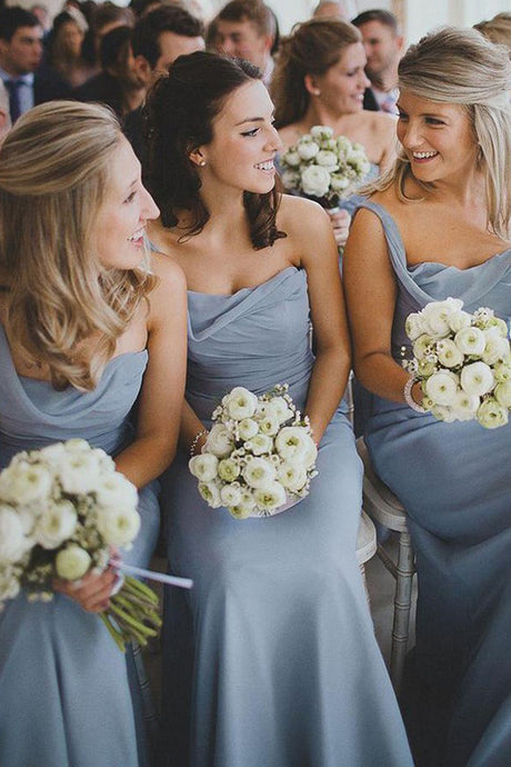 Chiffon Ruffles One-Shoulder Bridesmaid Dress