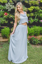 Chiffon Reversible Crop Top Bridesmaid Dresses