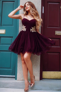 Applique Short Homecoming Dresses