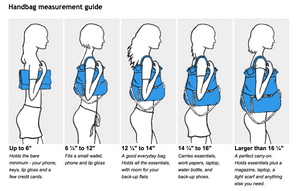Purse sizes and what they can hold