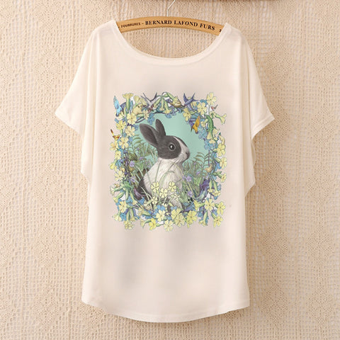 Cute batwing sleeve novelty T-shirt 20 design options  ~ Plus size available