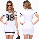 Short sleeve  T-shirt mini dress  #88