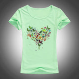 Heart shape colorful butterfly t-shirt ~ 5 choices