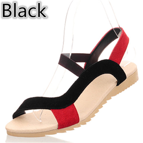 Genuine leather front & rear strap sandals