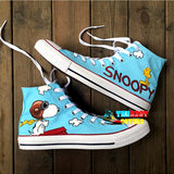 Cartoon characters hand painted canvas high top sneakers ~ 7 options