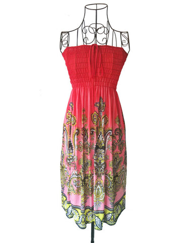 Tube hippie boho print top dress ~ 9 options!