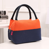 Dual colors top handle medium capacity canvas bag ~ 7 colors!