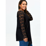Long sleeve with lace and floral design top ~ Plus size