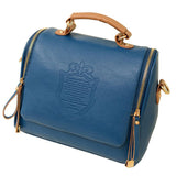 Shield embossed satchel handbag ~ 4 colors!