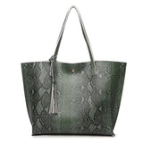 Snakeskin shoulder bag or shopping tote