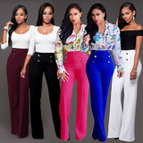 Classy high waist bell bottom office / church dress pants ~ 5 colors!