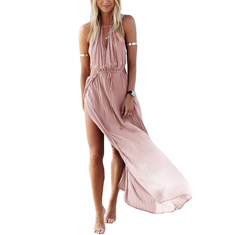 Maxi sleeveless loose fitted laid back dress