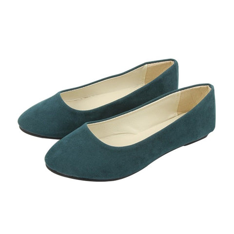 Semi-casual & comfortable suede flat dress shoes ~ 6 colors!