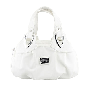 Imitation leather hobo bag / tote / purse with silver buckles