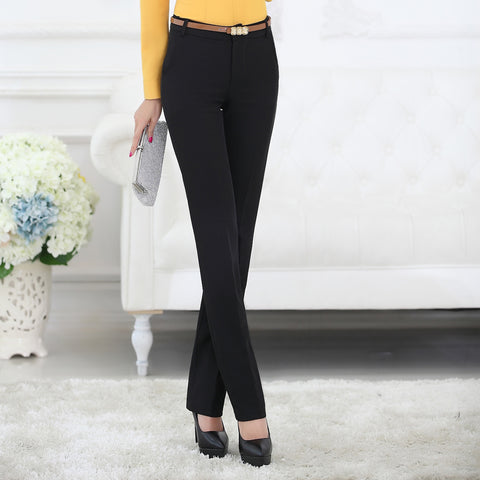 Business style straight trousers pants ~ Plus size available