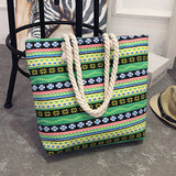 Casual huge capacity canvas beach bag with rope straps ~ 15 options!