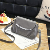 Leather top-handle shoulder handbag / purse with a single detachable strap