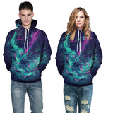 Lightweight hoodie sweatshirt with dreamy colorful design