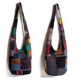 Hippie bucket bag colorful patchwork look