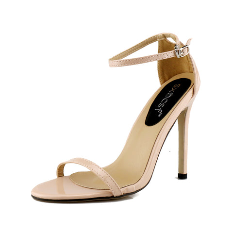 Open toe slingback high heels