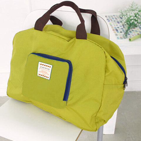 Foldable travel beach or gym type shoulder eco-friendly nylon bag
