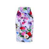 Floral print women pencil skirt with 13 design options