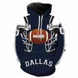 NFL hoodie 3D print with 7 team options ~ Plus size