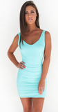 Slim fit backless mini club dress ~ 6 colors!!