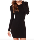 Perfect for the office O-neck long sleeve dress