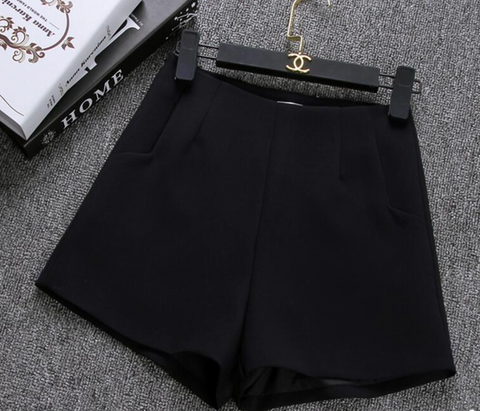 Classy casual high waist shorts in solid colors