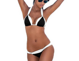 Bikini with tie top & push up feature ~ Plus size available ~ 5 colors!!