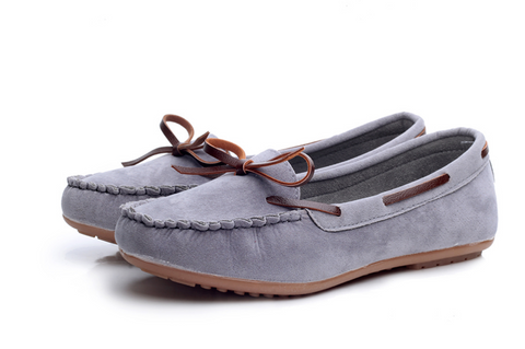 Super comfy suede & leather tie boat shoes ~ 4 colors!!