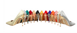 Silk stiletto heels with elegant ornate metal embellishments ~ 9 colors!