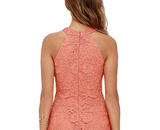 Halter top sleeveless lace dress