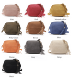 Patchwork suede diagonal shoulder bag ~ 10 colors!
